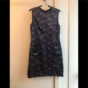 Marc Jacobs silk panther print belted dress